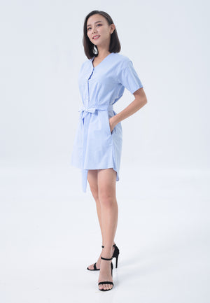 Fiona Dress in Blue