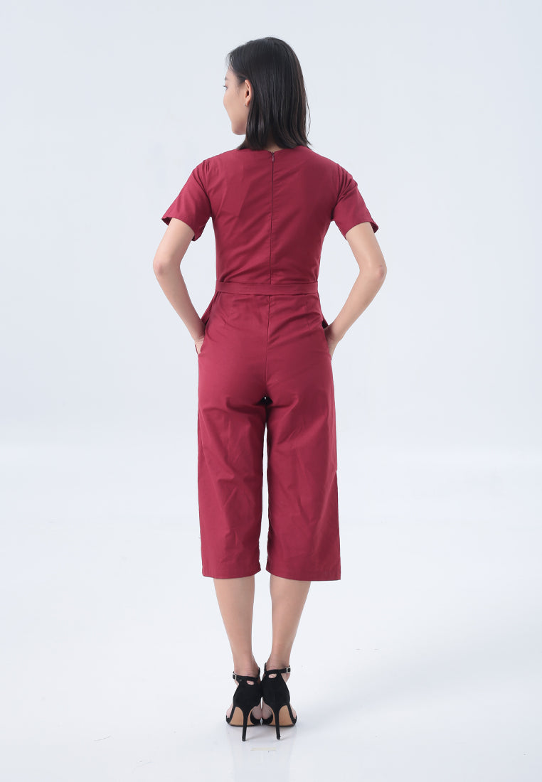 Ronia Jumpsuit in Maroon
