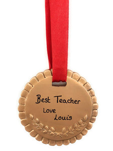 Personalised Resin Gold Medal Gift 7cm