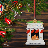 Personalised Resin Fireplace Decoration 9cm 4 Stockings
