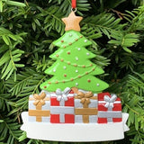 Personalised Resin Tree Family 4 Decoration 11.5cm x 8.5cm