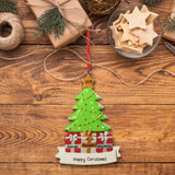 Personalised Resin Tree Family 3 Decoration 11.5cm x 8.5cm