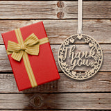 Wood Thank you Decoration 10cm
