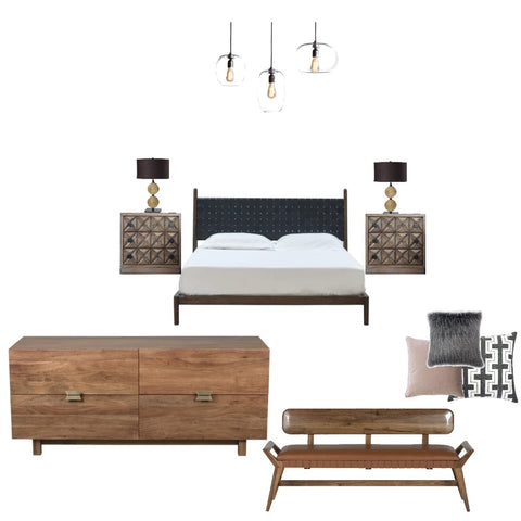 Comfort and Calm Minimalist Bedroom From $81.00 & Up For Full Bundle - InteriorDesignsToGo.com