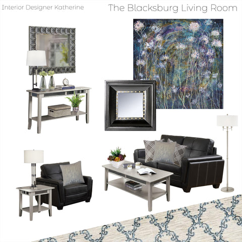 The Blacksburg Living Room From $19.99 & Up For Full Bundle - InteriorDesignsToGo.com