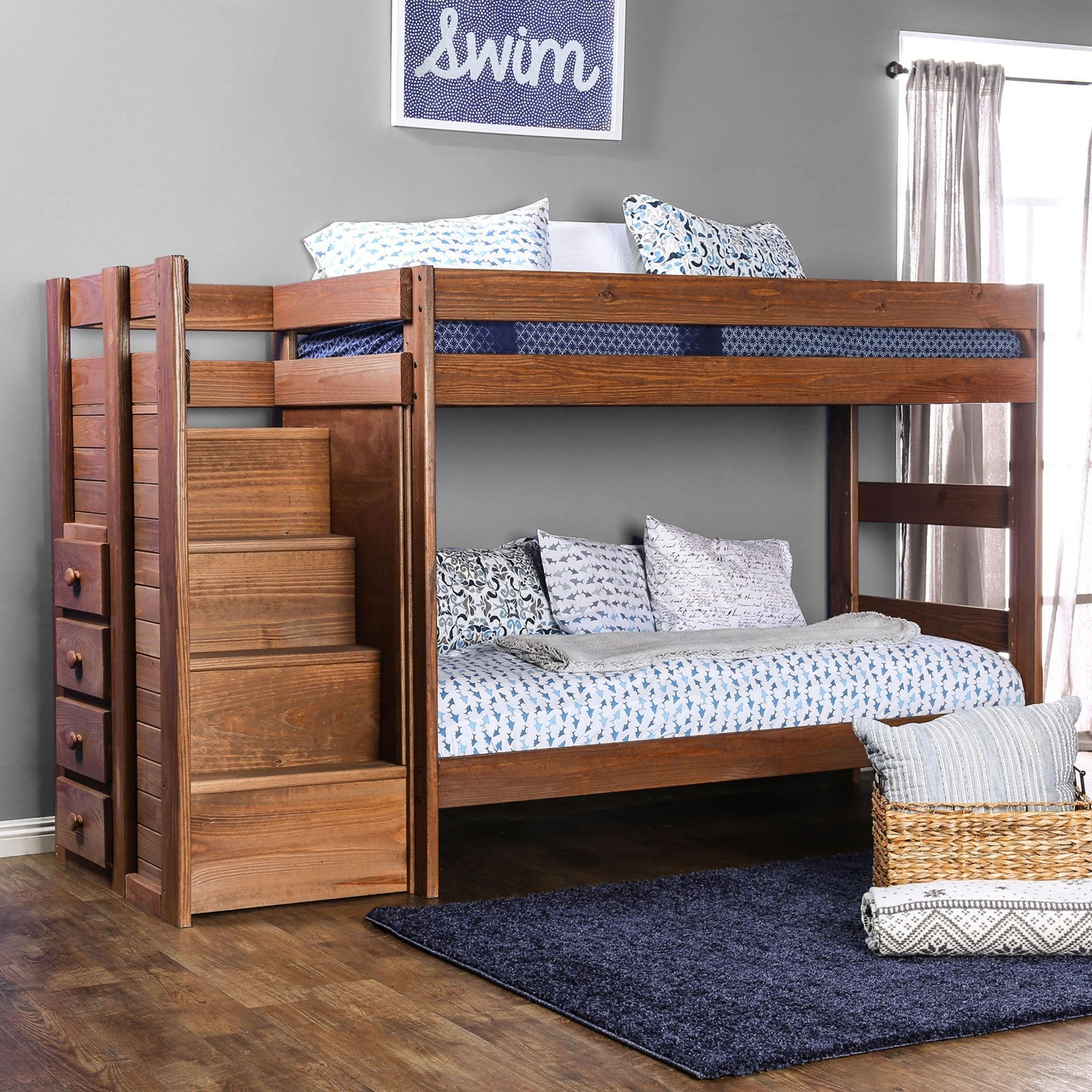 Ampelios T-T Bunk Bed w- 2 Slat Kits (*Mattress Ready) - InteriorDesignsToGo.com