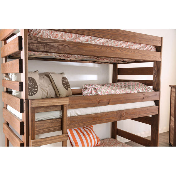 Pollyanna Rustic T-T-T Bed (*Slats or Bunkie Board Required) - InteriorDesignsToGo.com