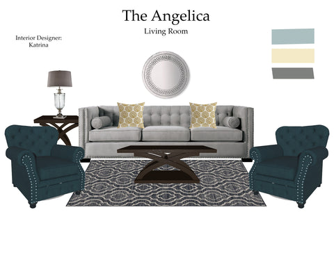 The Angelica Living Room From $7.99 & Up For Full Bundle - InteriorDesignsToGo.com