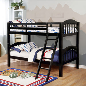 Coney Island Twin-Twin Bunk Bed (Black) - InteriorDesignsToGo.com