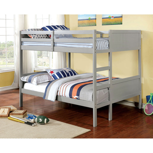 Annette Full-Full Bunk Bed Gray - InteriorDesignsToGo.com