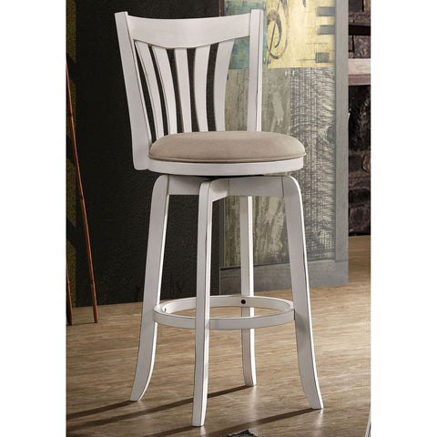 "Clusky 29"" Swivel Bar Stool (White) - InteriorDesignsToGo.com"