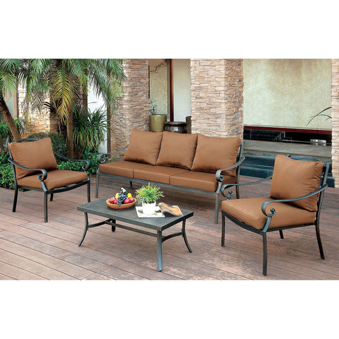 BONQUESHA 4 Pc. Patio Set - InteriorDesignsToGo.com