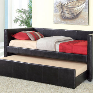 Cadiz Daybed w- Trundle, Black - InteriorDesignsToGo.com