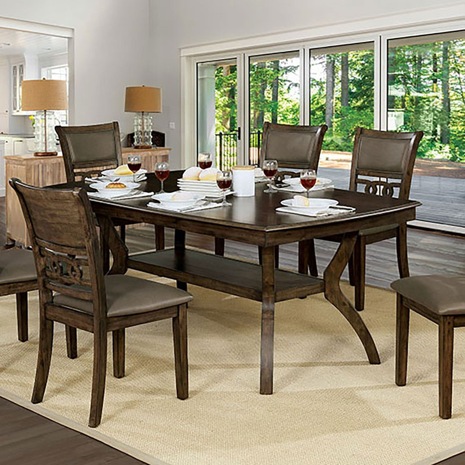 Holly Transitional Dining Table - InteriorDesignsToGo.com