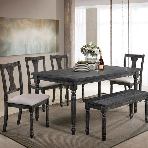 Muriel Rustic Dining Table - InteriorDesignsToGo.com
