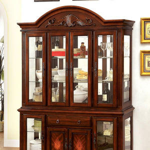 Petersburg i Traditional Hutch & Buffet (Touch Lights) - InteriorDesignsToGo.com