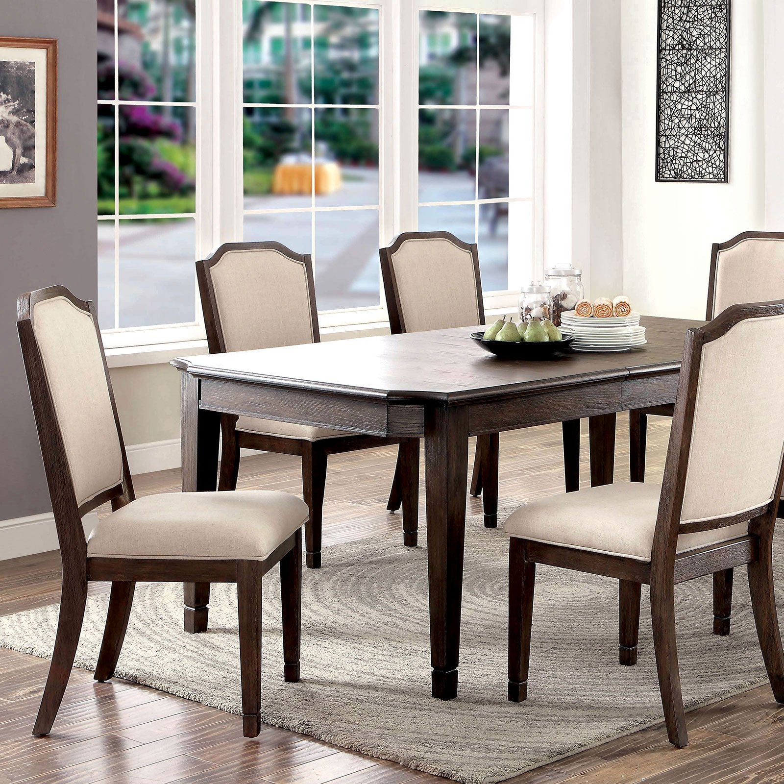 HAYLEE Transitional Dining Table - InteriorDesignsToGo.com