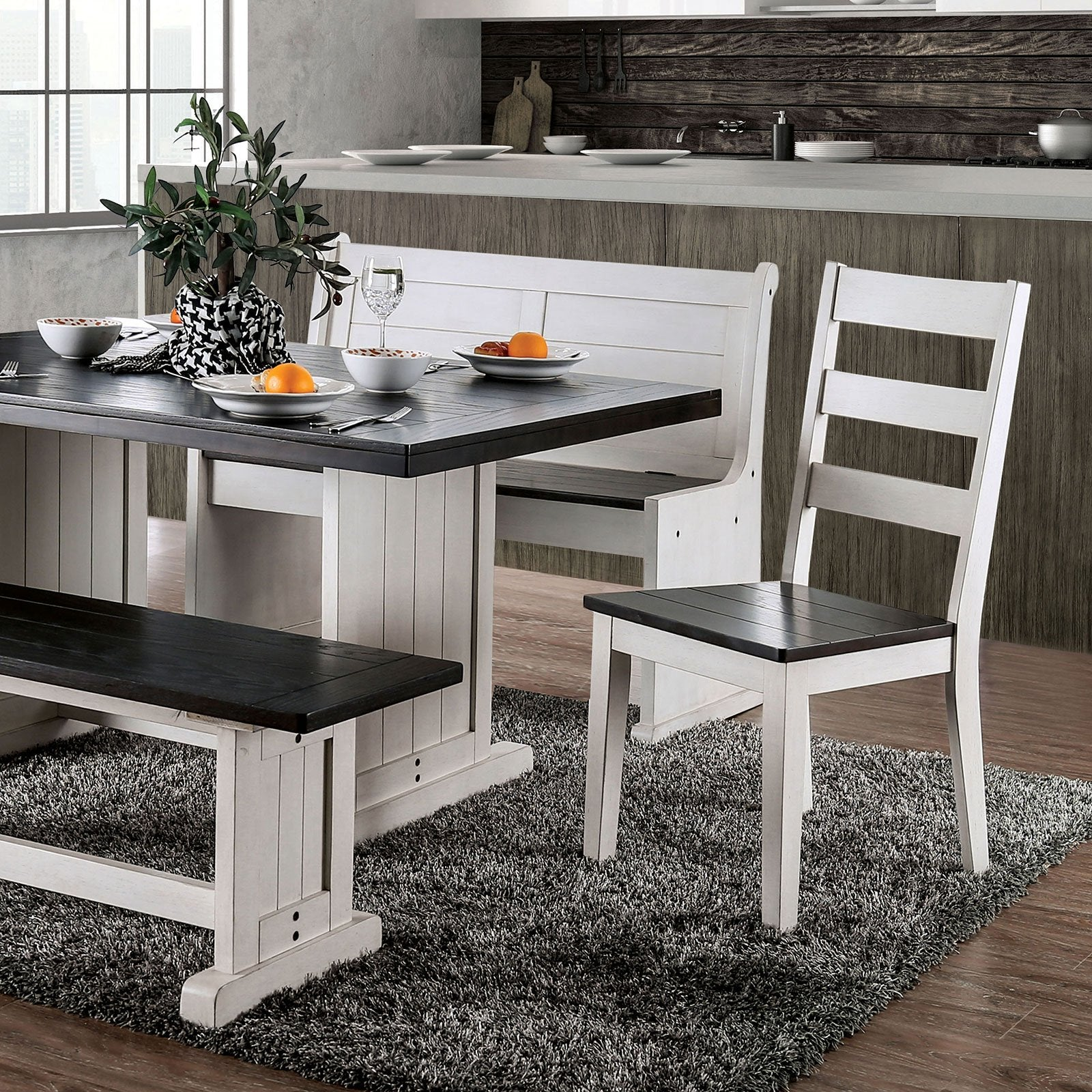 Nekoma Rustic 7 Pc. Dining Table Set - InteriorDesignsToGo.com