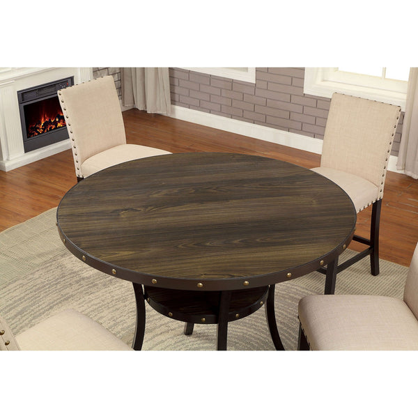 Kaitlin Transitional Round Counter Ht. Table - InteriorDesignsToGo.com