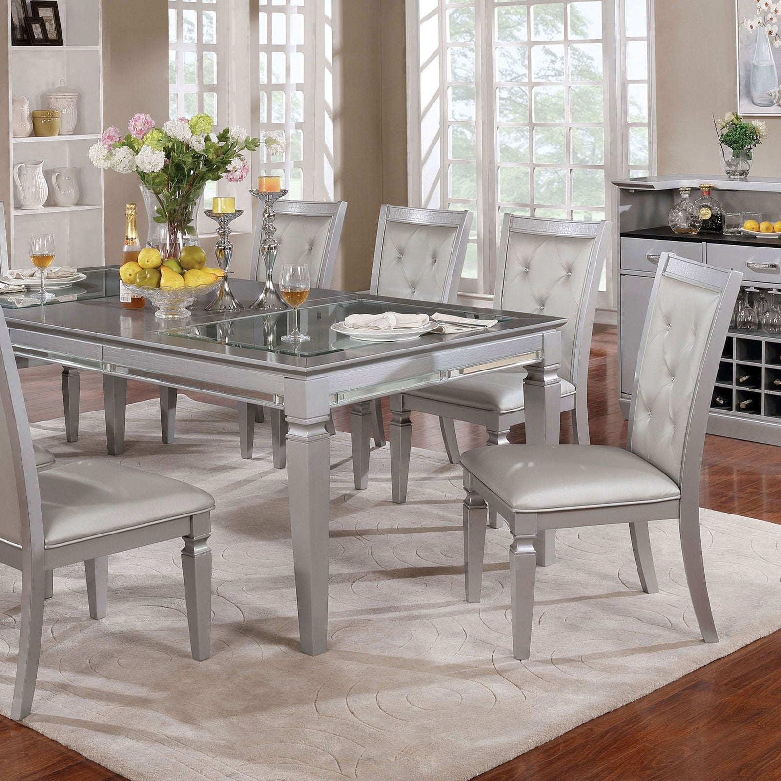 Alena Dining Table Silver (Table Only) - InteriorDesignsToGo.com