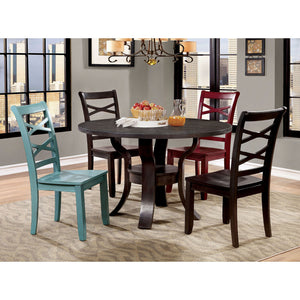 GISELA 5 Pc. Dining Table Set (2RD+2BL) - InteriorDesignsToGo.com