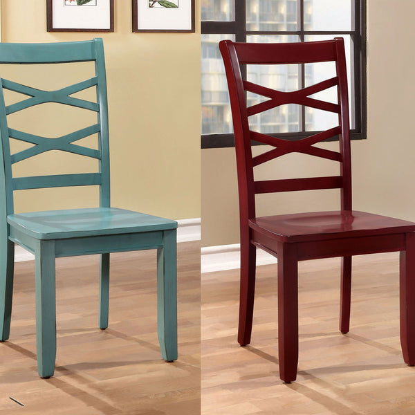 GISELLE Side Chair, 1 Red & 1 Blue (2-CTN) - InteriorDesignsToGo.com