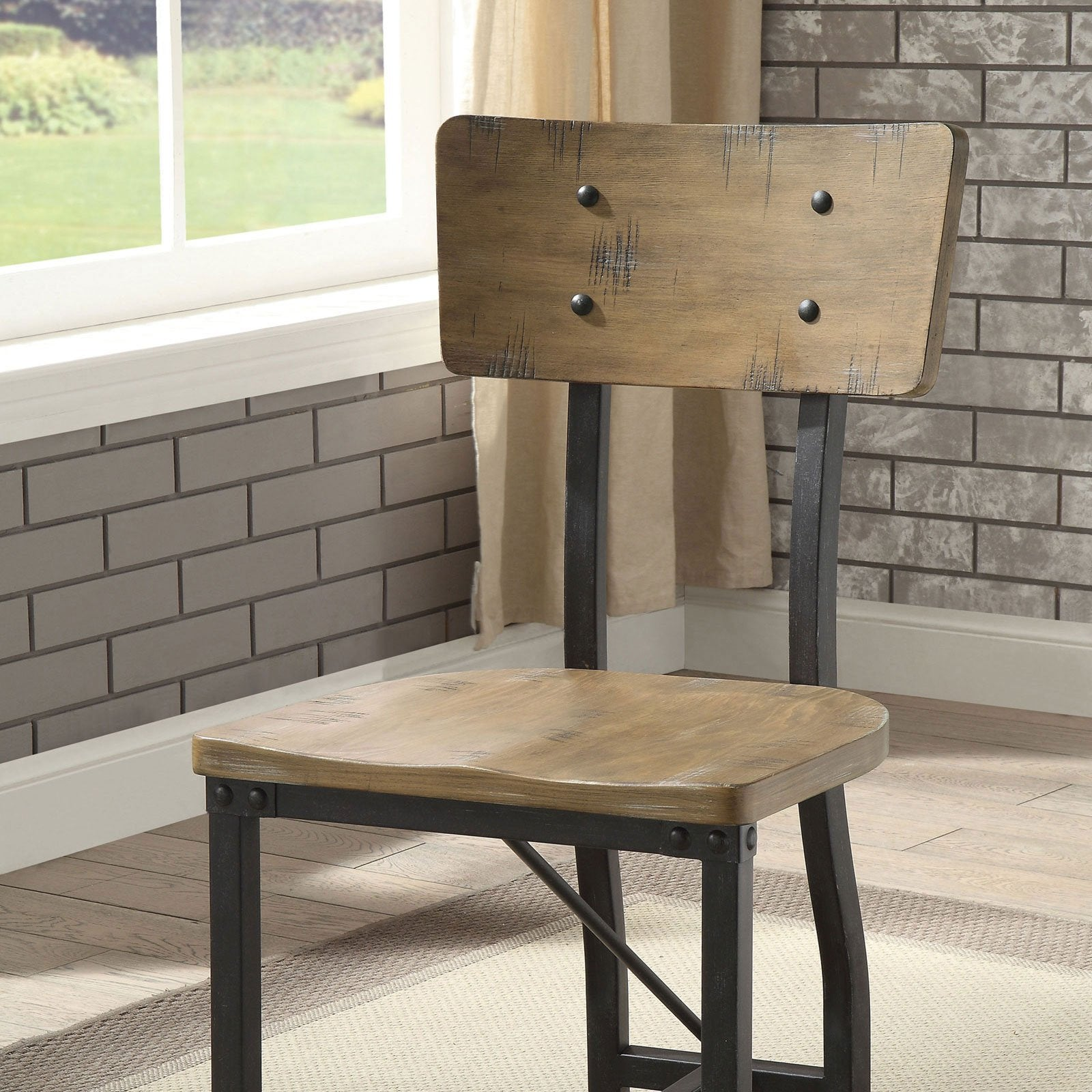 Kirstin Industrial Side Chair (2-CTN) - InteriorDesignsToGo.com
