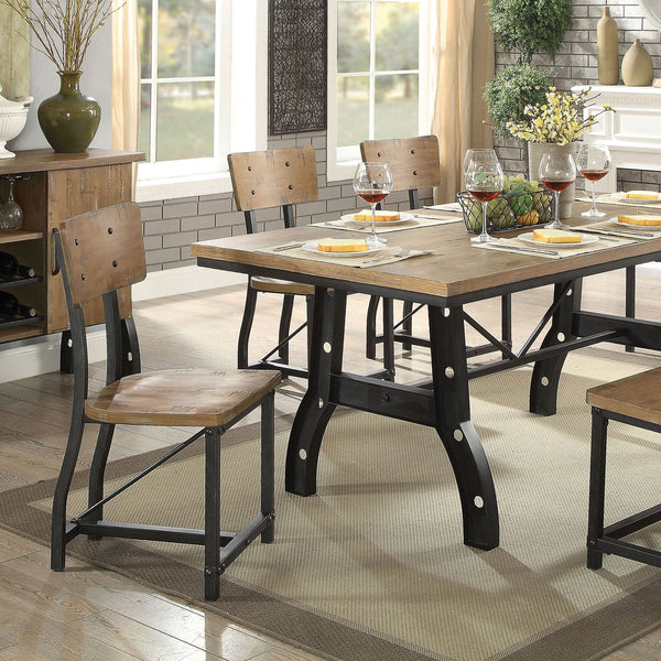 Kirstin Industrial Dining Table - InteriorDesignsToGo.com