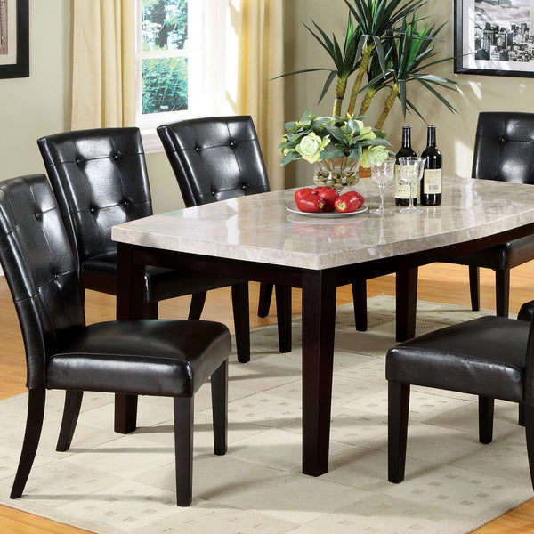 Marion I Contemporary Oval-Edge Dining Table - InteriorDesignsToGo.com