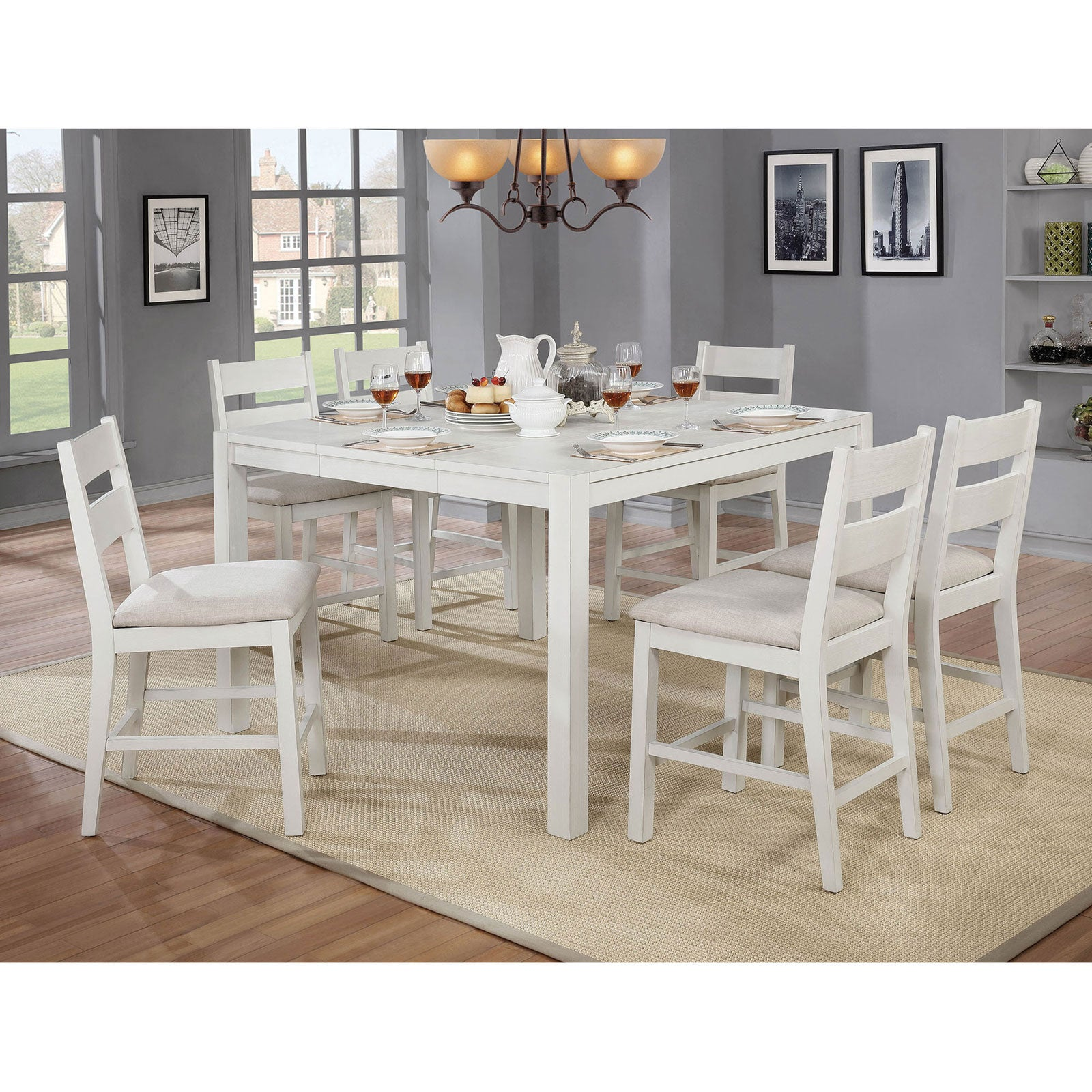 Glenfield 7 Pc. Dining Table Set - InteriorDesignsToGo.com