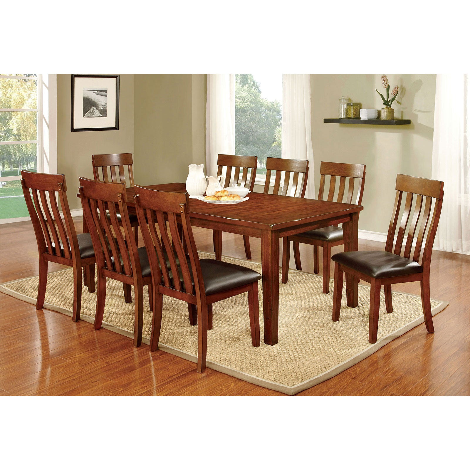 FOXVILLE 9 Pc. Dining Table Set - InteriorDesignsToGo.com