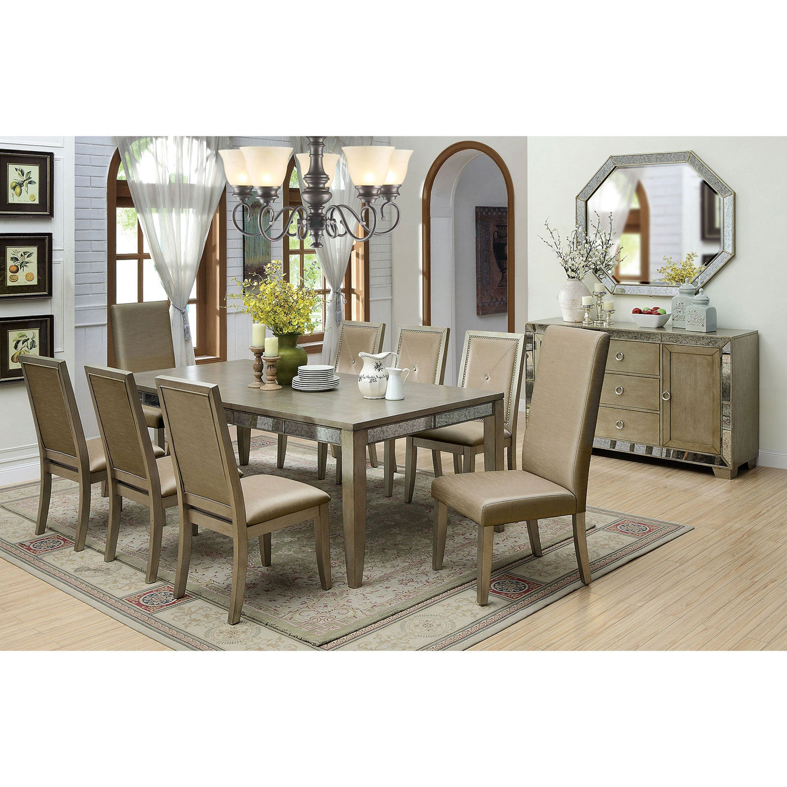 Echo 9 Pc. Dining Table Set (2MC+6SC) - InteriorDesignsToGo.com