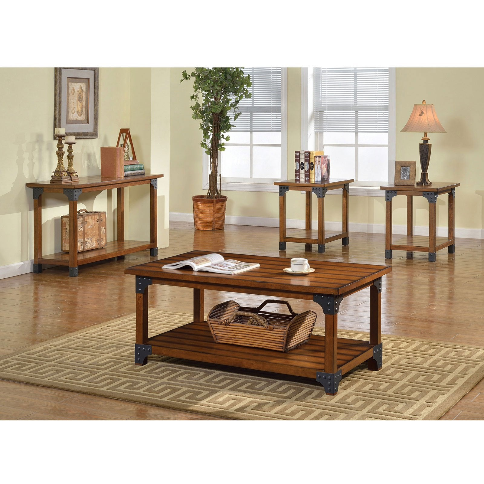 BOZEMAN 3 Pc. Table Set (Sofa Table Sold Separately) - InteriorDesignsToGo.com