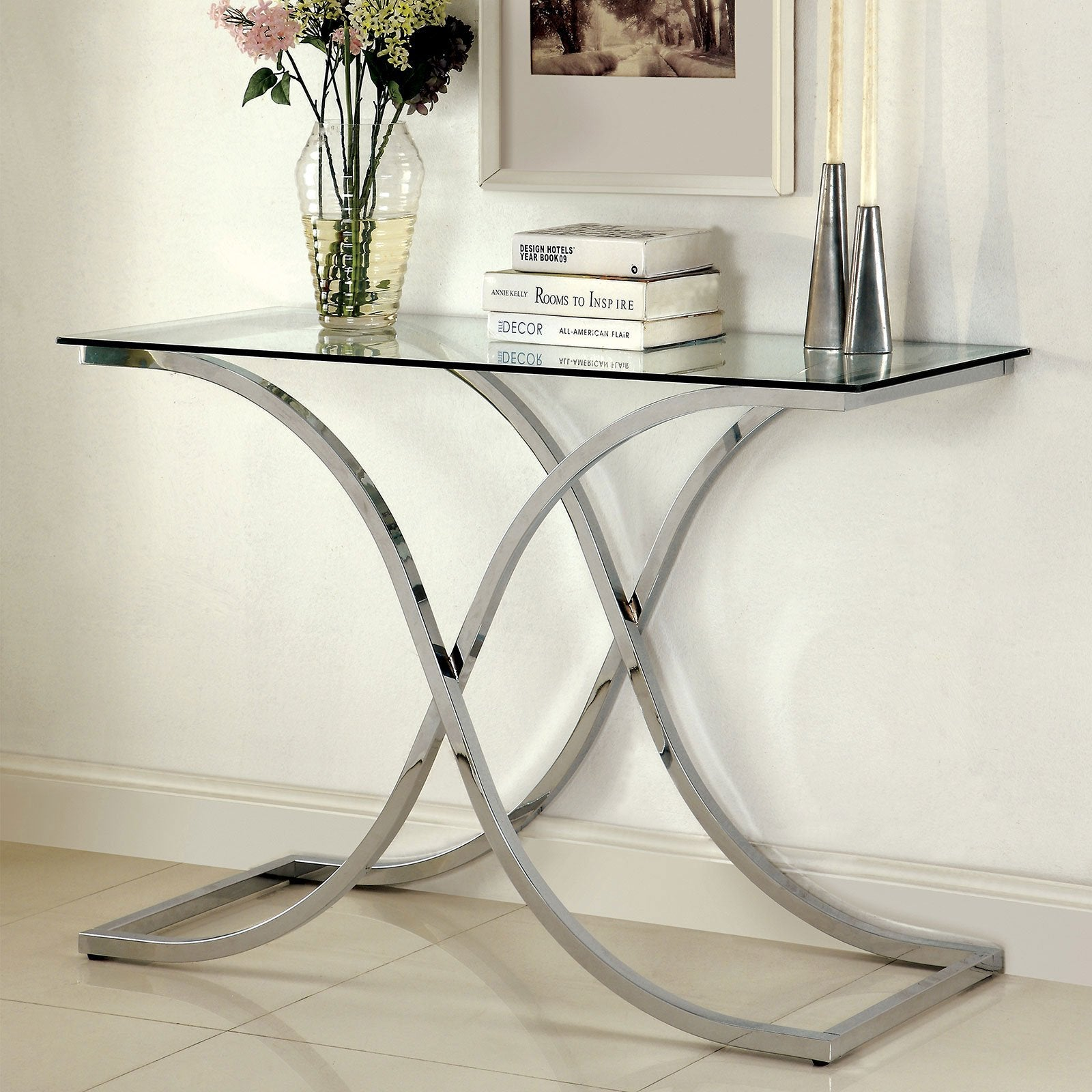 LUXA Contemporary Sofa Table - InteriorDesignsToGo.com