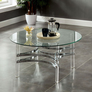 Tirso Contemporary Round Coffee Table - InteriorDesignsToGo.com