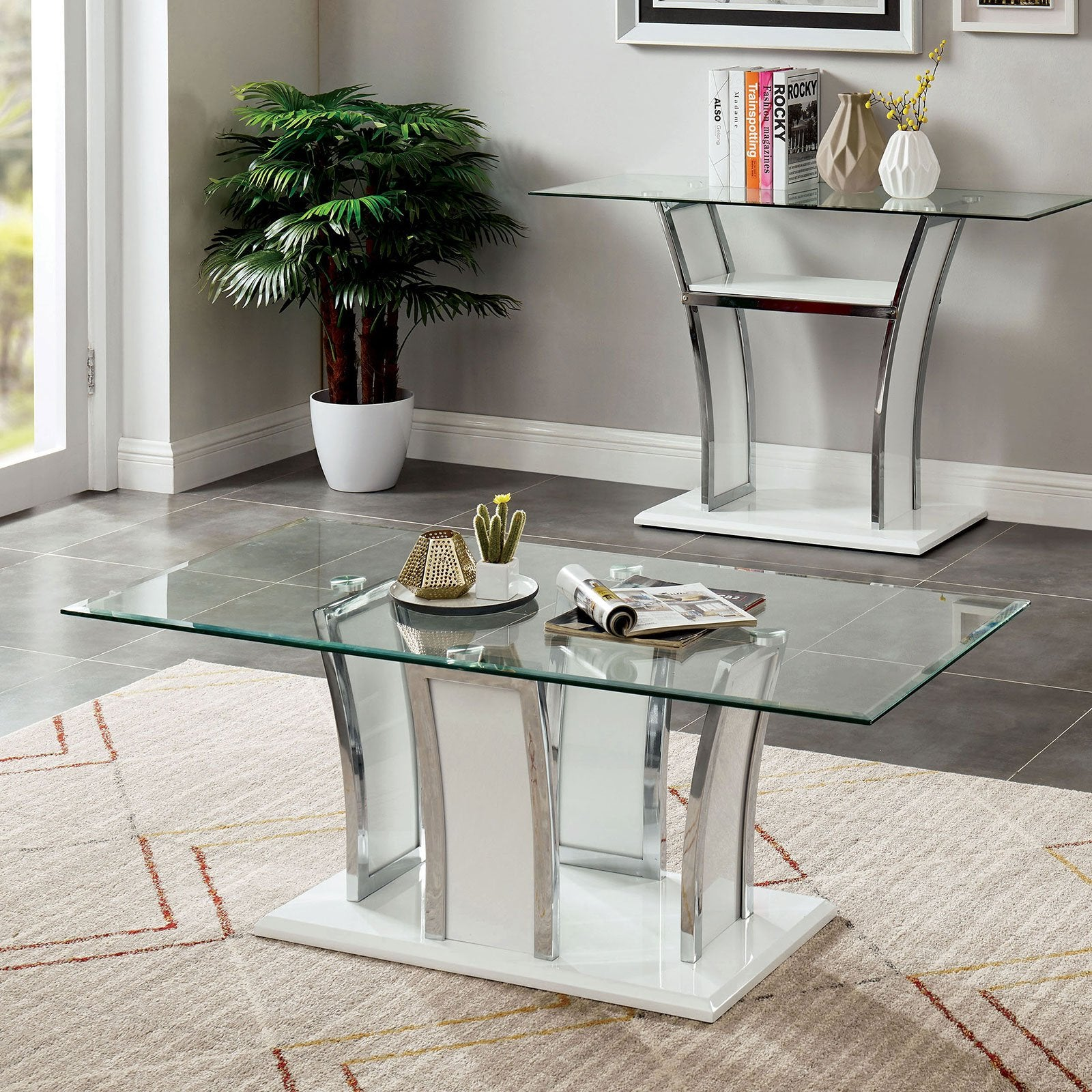Staten Contemporary Coffee Table - InteriorDesignsToGo.com