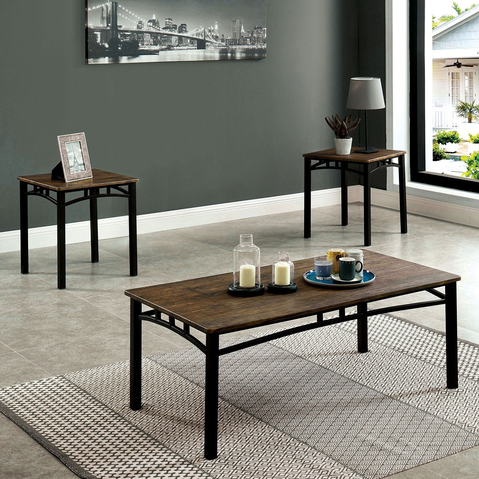 Potlatch Rustic 3 Pc. Table Set - InteriorDesignsToGo.com