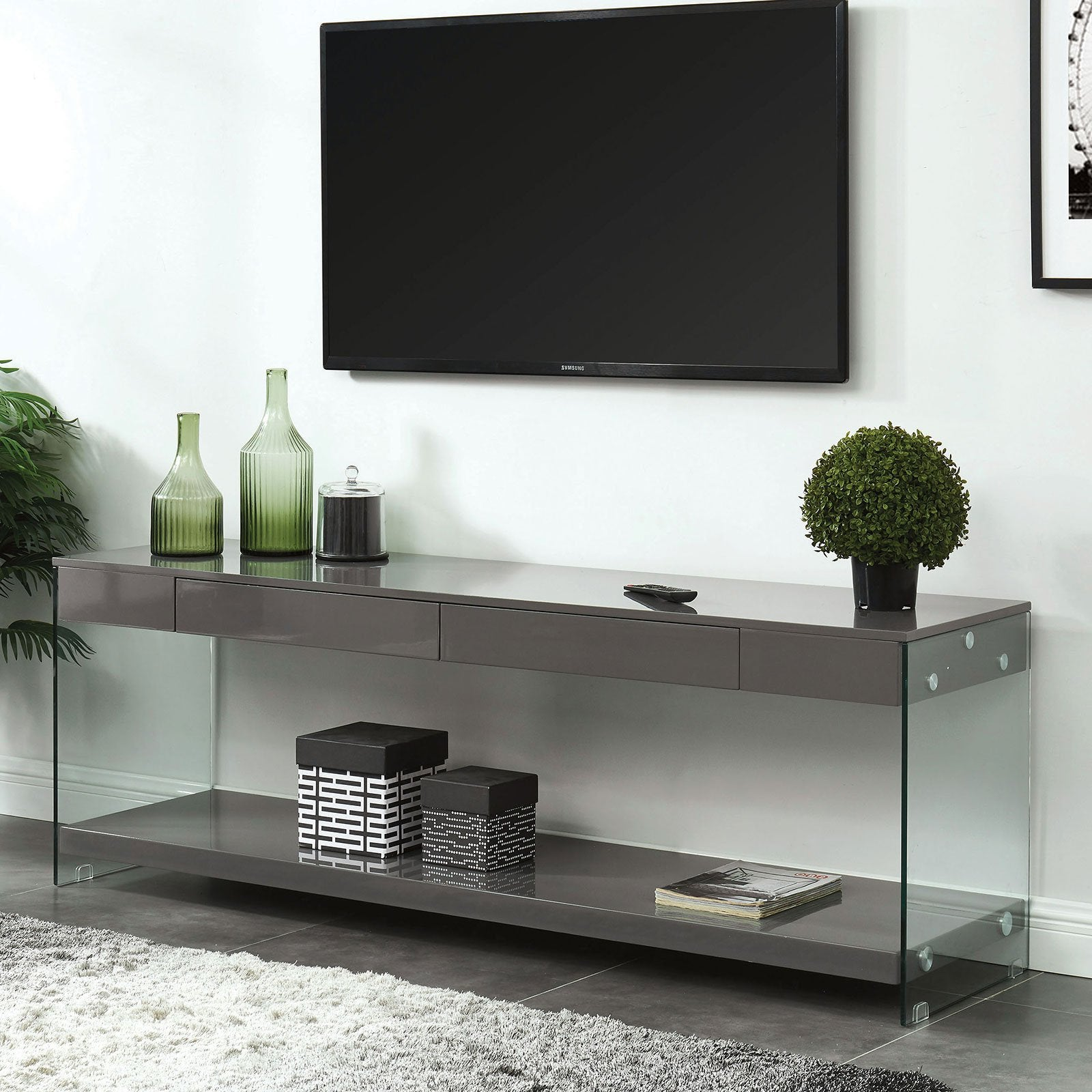 "Sabugal Contemporary 70"" TV Stand - InteriorDesignsToGo.com"