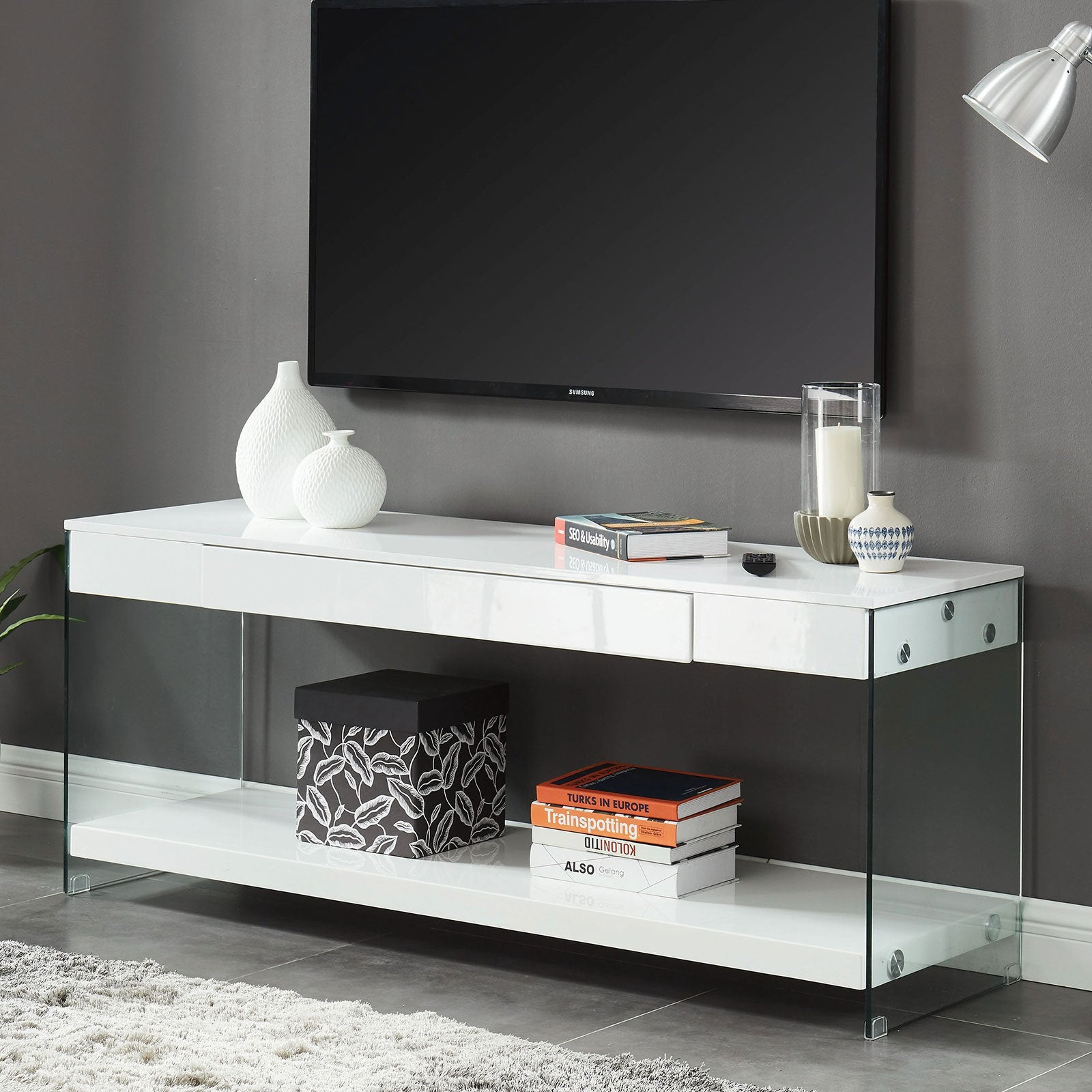 "Sabugal Contemporary 60"" TV Stand - InteriorDesignsToGo.com"