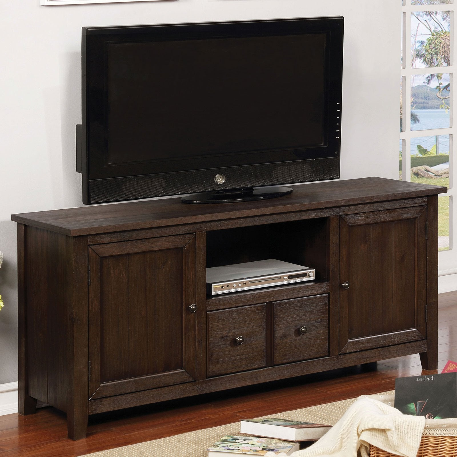 "Presho Transitional 60"" TV Stand - InteriorDesignsToGo.com"