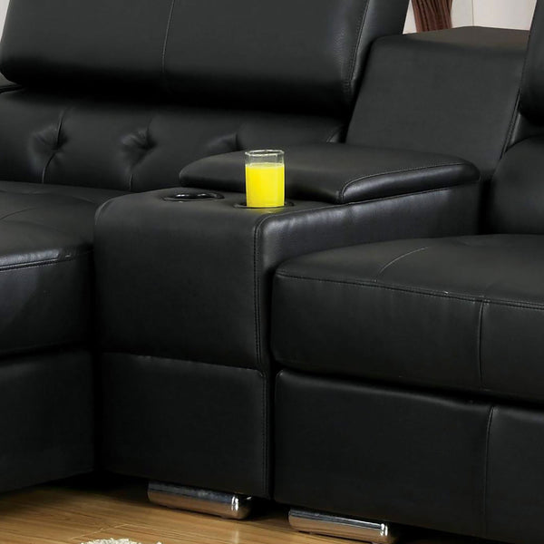 Floria Sectional, Black - InteriorDesignsToGo.com