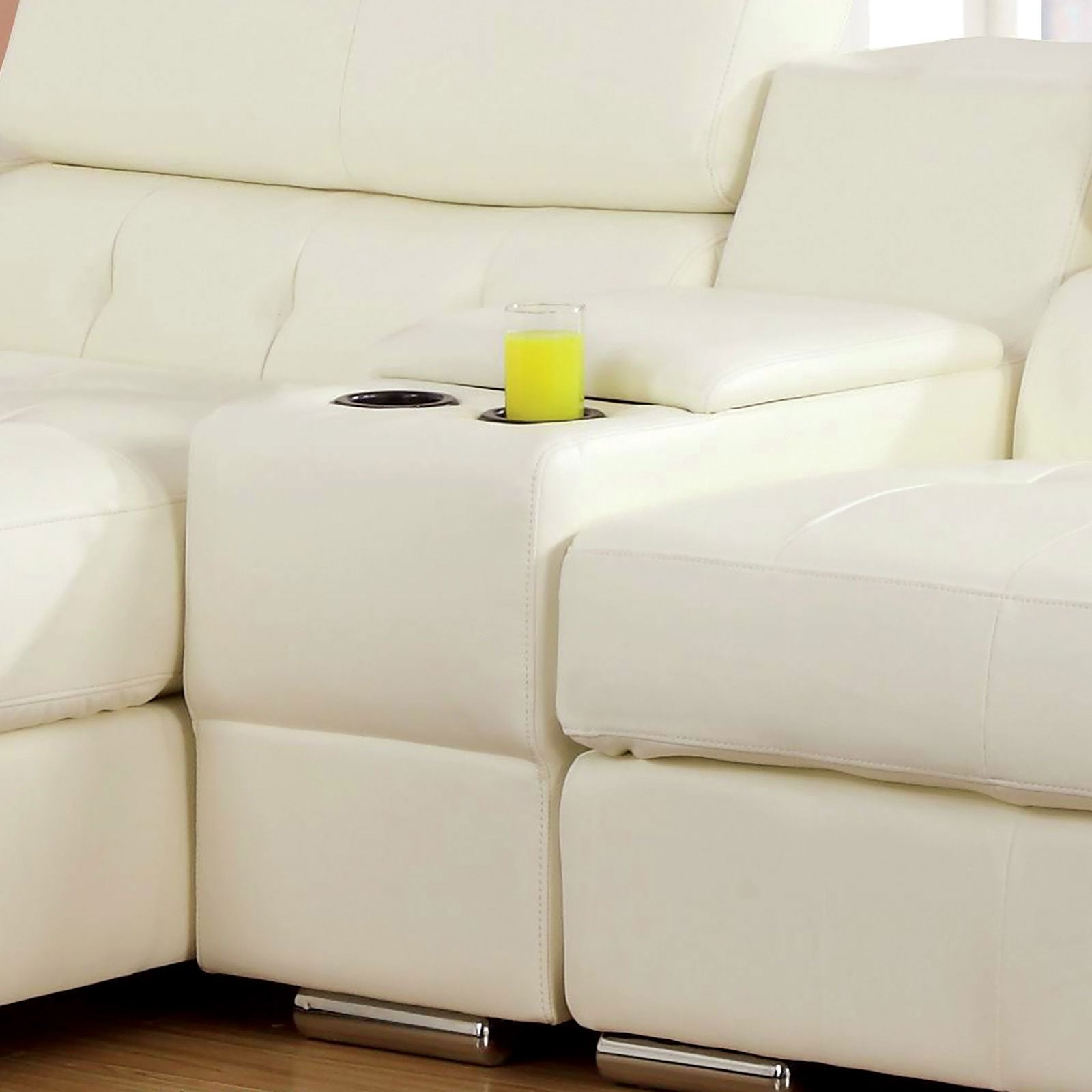 Floria Sectional, White - InteriorDesignsToGo.com