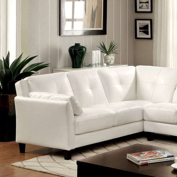 PEEVER Contemporary Sectional, White (K-D) - InteriorDesignsToGo.com