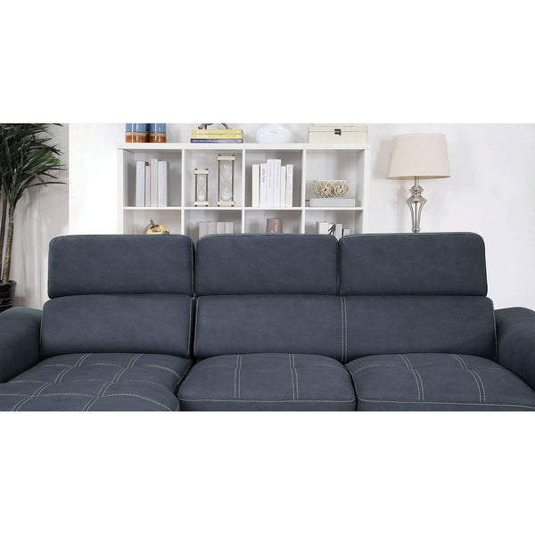 Patty Contemporary Sectional, blue - InteriorDesignsToGo.com