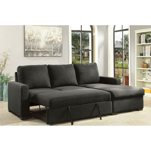 Arabella Sectional Sleeper Dark Gray - InteriorDesignsToGo.com