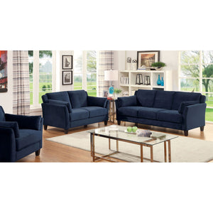 YSABEL Contemporary 2 Pcs Arm, Navy - InteriorDesignsToGo.com