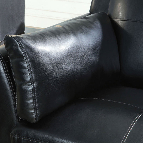Pierre Contemporary Sofa, Black (K-D) - InteriorDesignsToGo.com