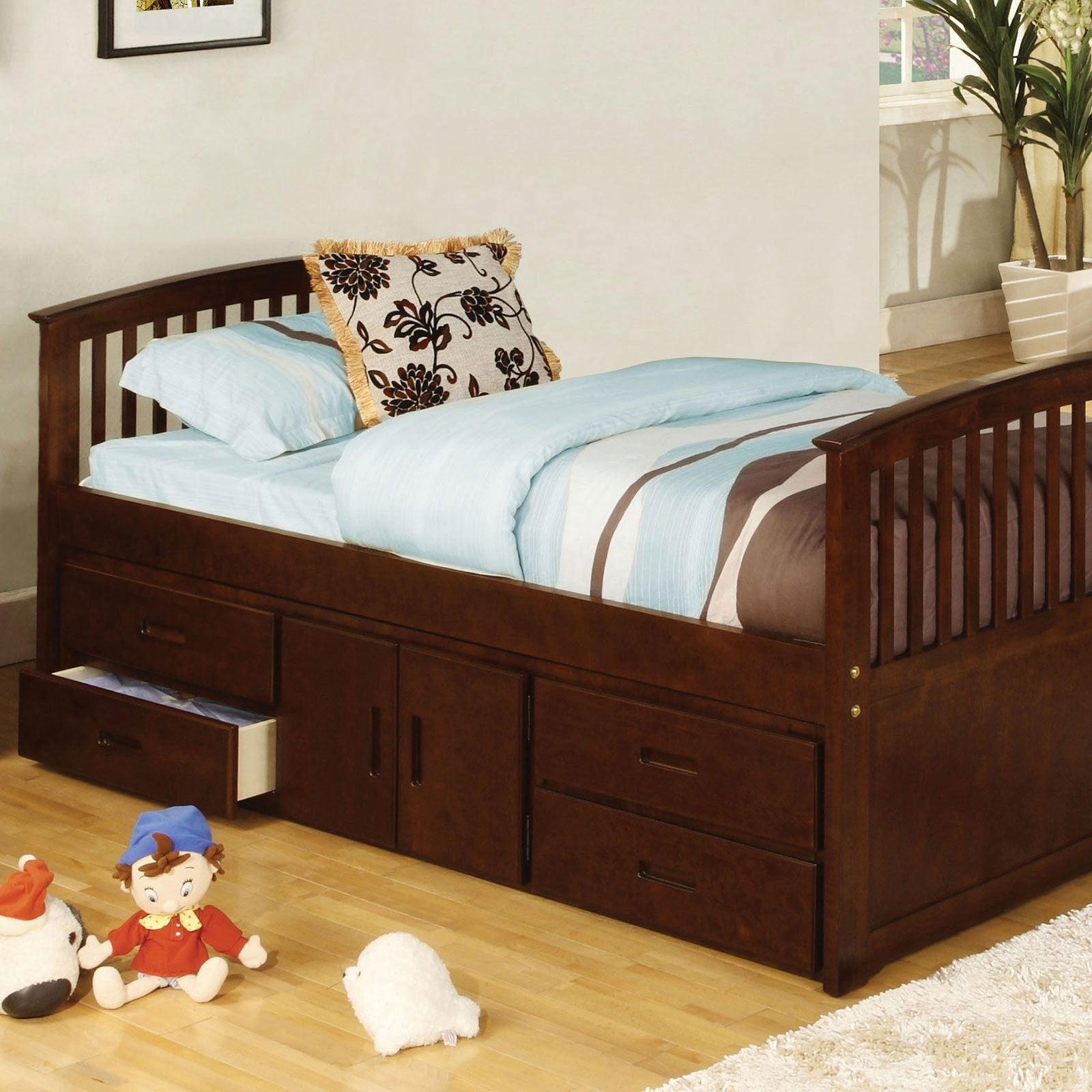 Caballero Captain Twin Bed w- 4 Drawers + Storage - InteriorDesignsToGo.com
