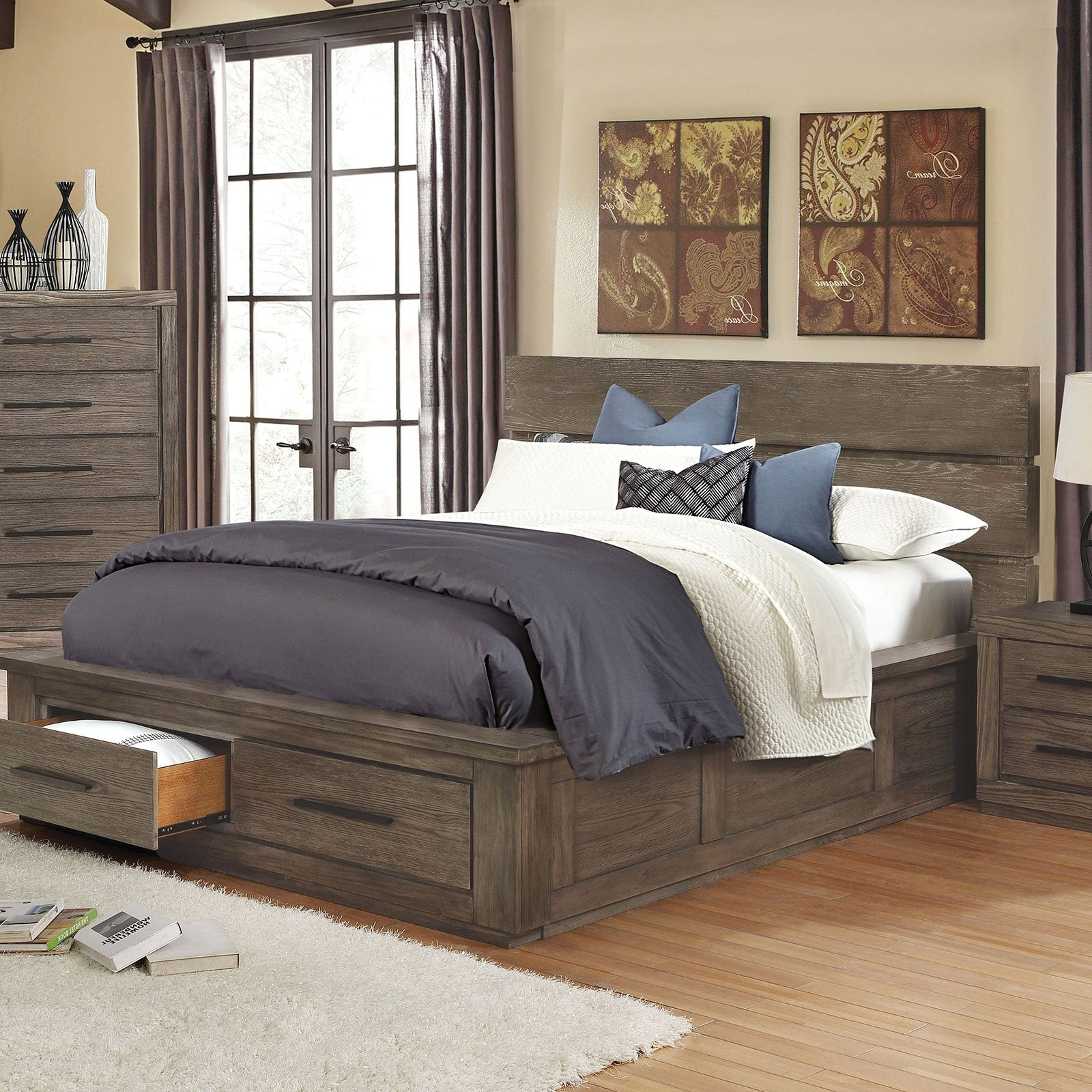 Oakes Transitional Cal.King Bed - InteriorDesignsToGo.com
