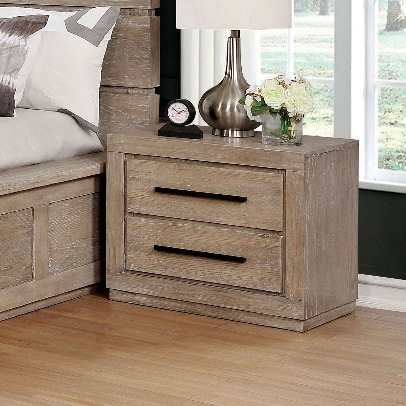 Oakburn Transitional Night Stand - InteriorDesignsToGo.com